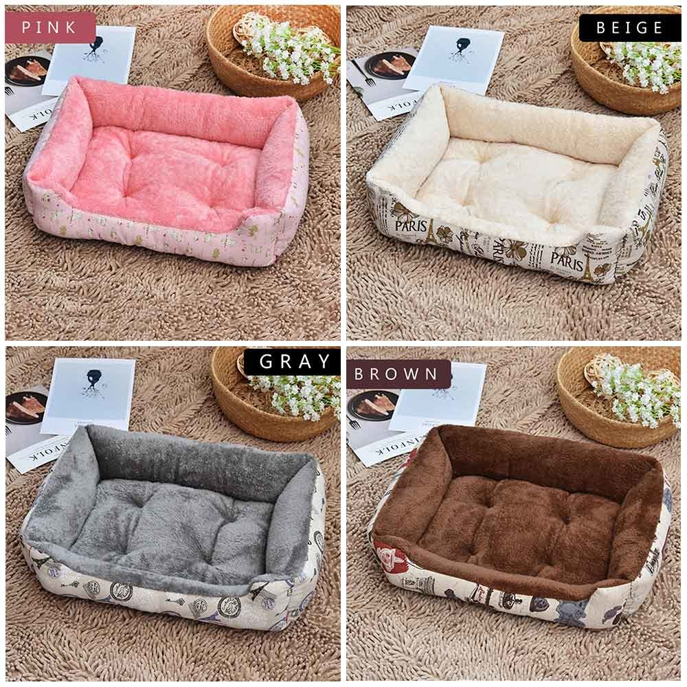 fd5a4aece64a Pet Dog Bed Soft Arctic Cotton Winter Warm Dog Kennel Husky Cushion Soft  For Medium Large