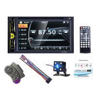 6.2 2 DIN Car DVD CD Player Autoradio Stereo 1080P Touch Screen Auto Radio MP5 Player Bluetooth TF USB FM Player Camera