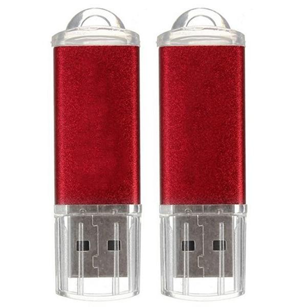 10 stücke USB-Stick 128 MB Schlüssel Kette Flash Memory Stick U-Disk für Win 8 PC Geschenk, rot