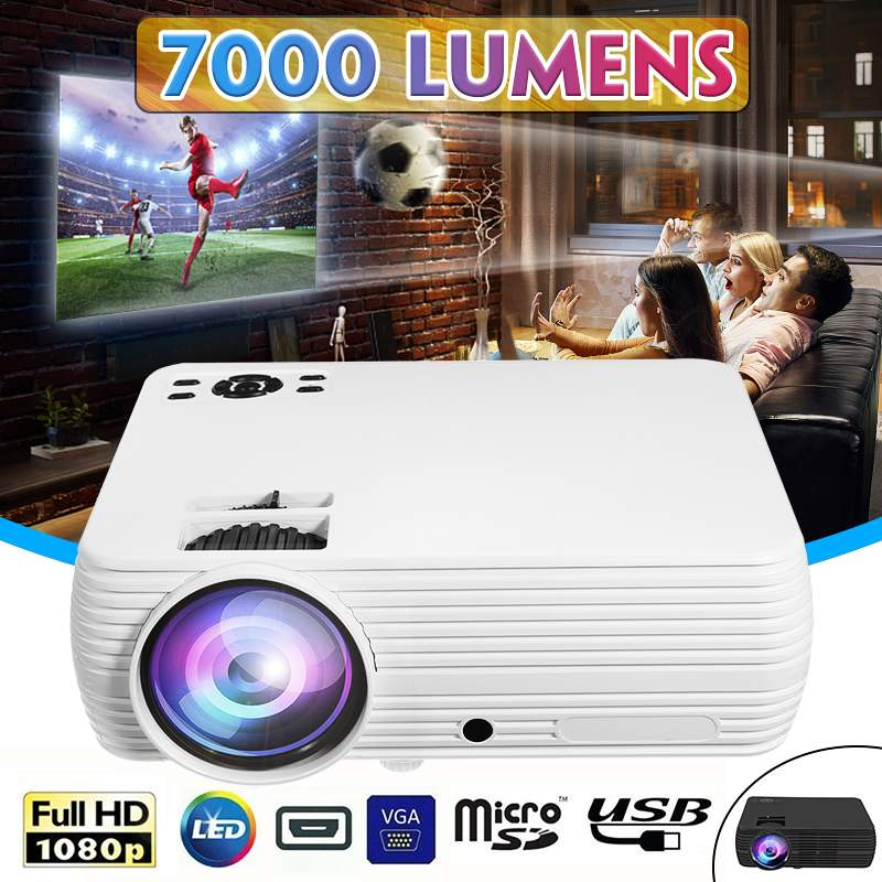 HOT X5 LCD Projector Home Cinema Theater Movie wifi bluetooth LED Proyector HD Projectors AV Support 1080P 7000 LumensHOT X5 LCD Projector Home Cinema Theater Movie wifi bluetooth LED Proyector HD Projectors AV Support 1080P 7000 Lumens