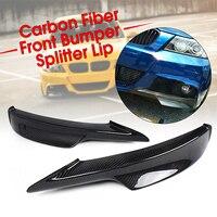 Настоящее углеродное волокно/Смола Универсальный Автомобильный передний бампер для губ протектор Spoile боковой разветвитель для BMW E90 335i LCI ...
