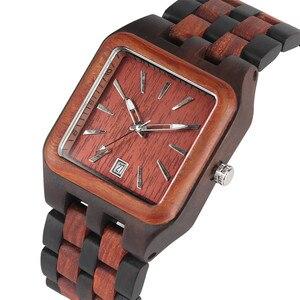 Luxo Mens Relógios de Quartzo Relógio De Madeira De Madeira Clássico Auto Data de Pulso dos homens de Negócios de Quartzo Relógios Masculino Relógio reloj 2019|Relógios de quartzo| |  -