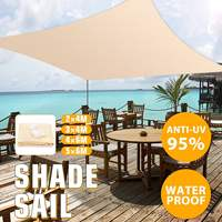 2x4/3x4/4x6/5x6m 4 Sizes Sun Shade Canopies Sails Outdoor Camping Hiking Yard Garden Shelters UV Block Top Cover Waterproof