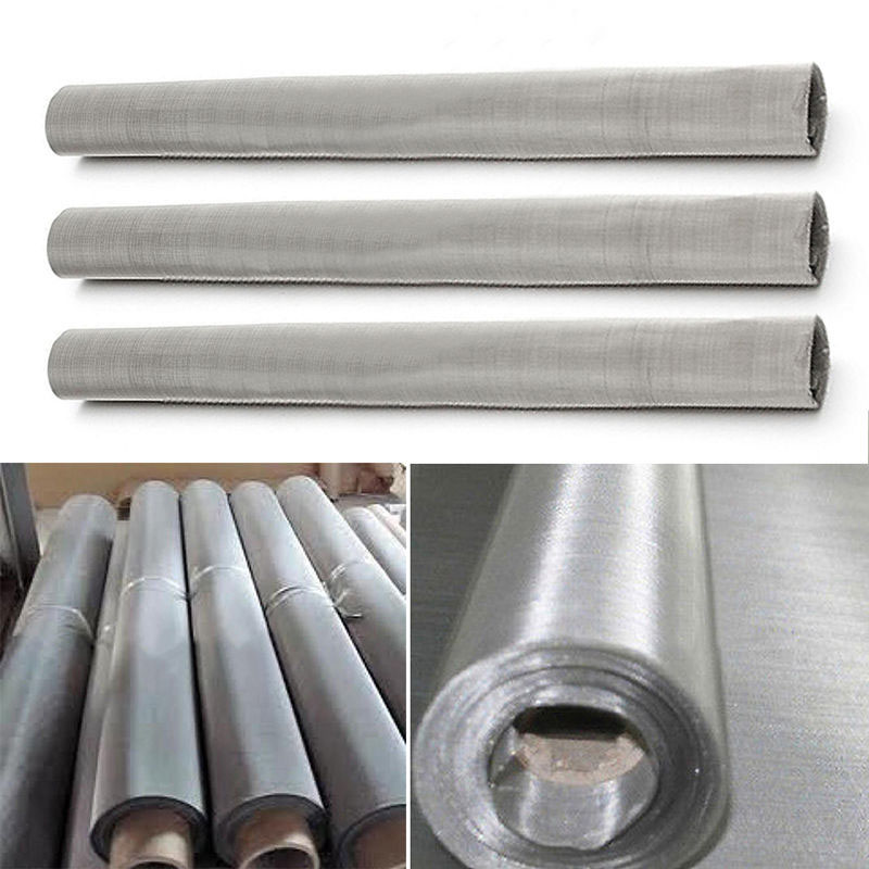 304Stainless Steel 200Mesh 0.08mm Woven Wire Filtration Grill Sheet Fine Food Filter Seawater Corrosion Resistant Duplex 30x60cm