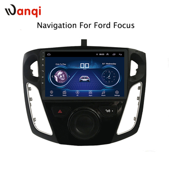 9 polegada android 8.1 dvd do carro sistema de navegação gps multimídia para ford focus 2012-2015 embutido de Vídeo Rádio de Navegação bt Wifi