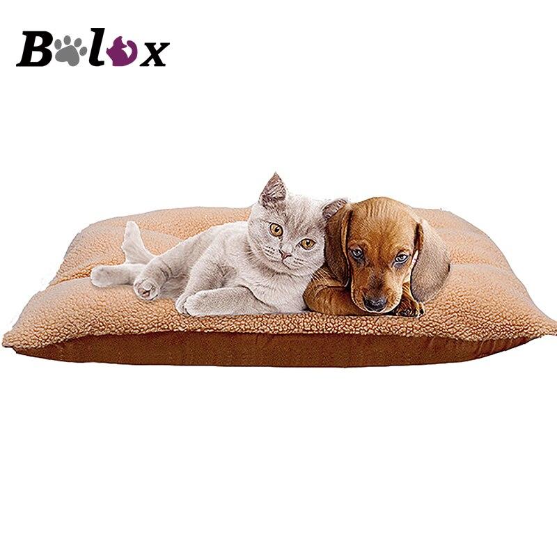 Hiver chien chat coussin tapis doux chiot sommeil lit chenil chaud épais Pet couverture Pad Matress canapé pour petit moyen grands chiens