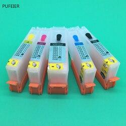 5 sztuk PGI-250 CLI-251 PGI250 CLI251 pusty wkładem wkład z chipem do Canon IP7220 IP8720 MG5420 MX922 MX722 drukarki