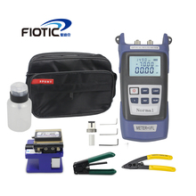 Fiber optic FTTH Tool Kit with Fiber Cleaver FC6S  Optical Power Meter 5KM Visual Fault Locator 5MW Wire stripper miller clamp
