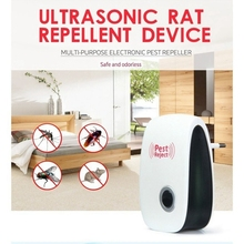 Ultrasonic Electronic Anti Mosquito Pest Insect Cockroach Magnetic Repeller TB