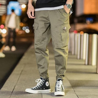 #4537 Mens Cargo Pants With Many Pockets Streetwear Retro Plus Size 5XL Cargo Pants Hip Hop Casual Trousers Fashion Track pants
