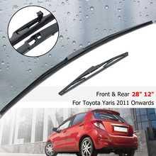 """2"""" 12"""" передние и задние щетки стеклоочистителя для Toyota Yaris MK3 2011 2012 2013 3 5 двери"""