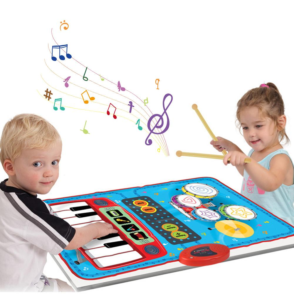 Children's Dance Mat Home Multifunctional Jazz Drum Electric Piano Early Education Puzzle Music Game Mat Blanket