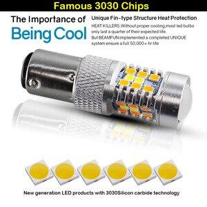 Image 3 - IJDM عالية الطاقة 28 SMD 1157 ثنائي اللون المتعرج LED المصابيح الأمامية بدوره إشارة (7 الأبيض 21  العنبر)