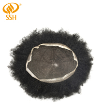 SSH Remy Hair Afro Curl Full French Lace Mens Toupee All Lace Mens Hairpieces Breathable Hair