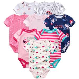 Image 5 - Baby Boy Clothes 8Pcs/set Unisex Newborn Girl Rompers roupas de bebe Cotton Baby Jumpsuits Short Sleeve Toddler Onesies Clothing