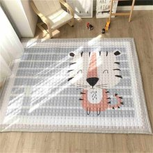 Large Polyester Baby Kid Animal Game Activity Play Crawling Mat Carpet Non-Slip Rug Baby Nursery Playroom Decoration 195X145cm(China)