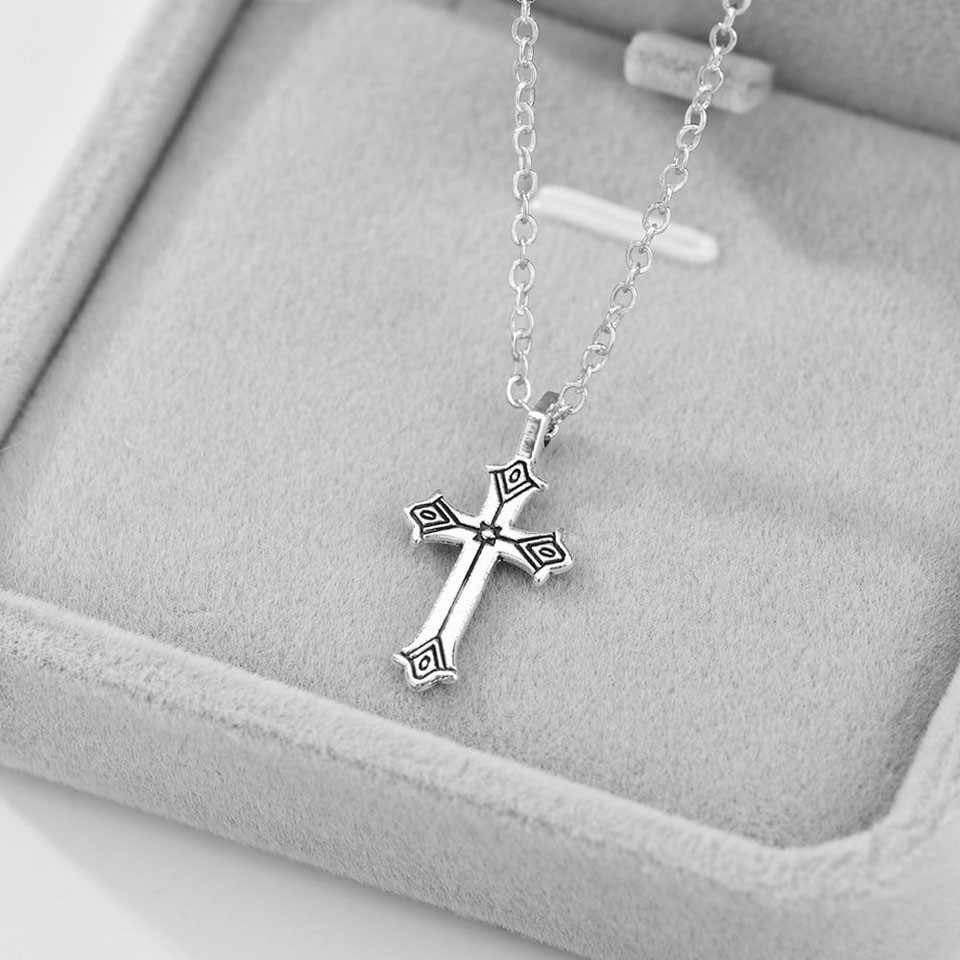 YANGQI 2019 New Fashion Cross Pendant Necklace For Women Trendy Jewelry Female Silver Color Chain Charm Necklace Sales