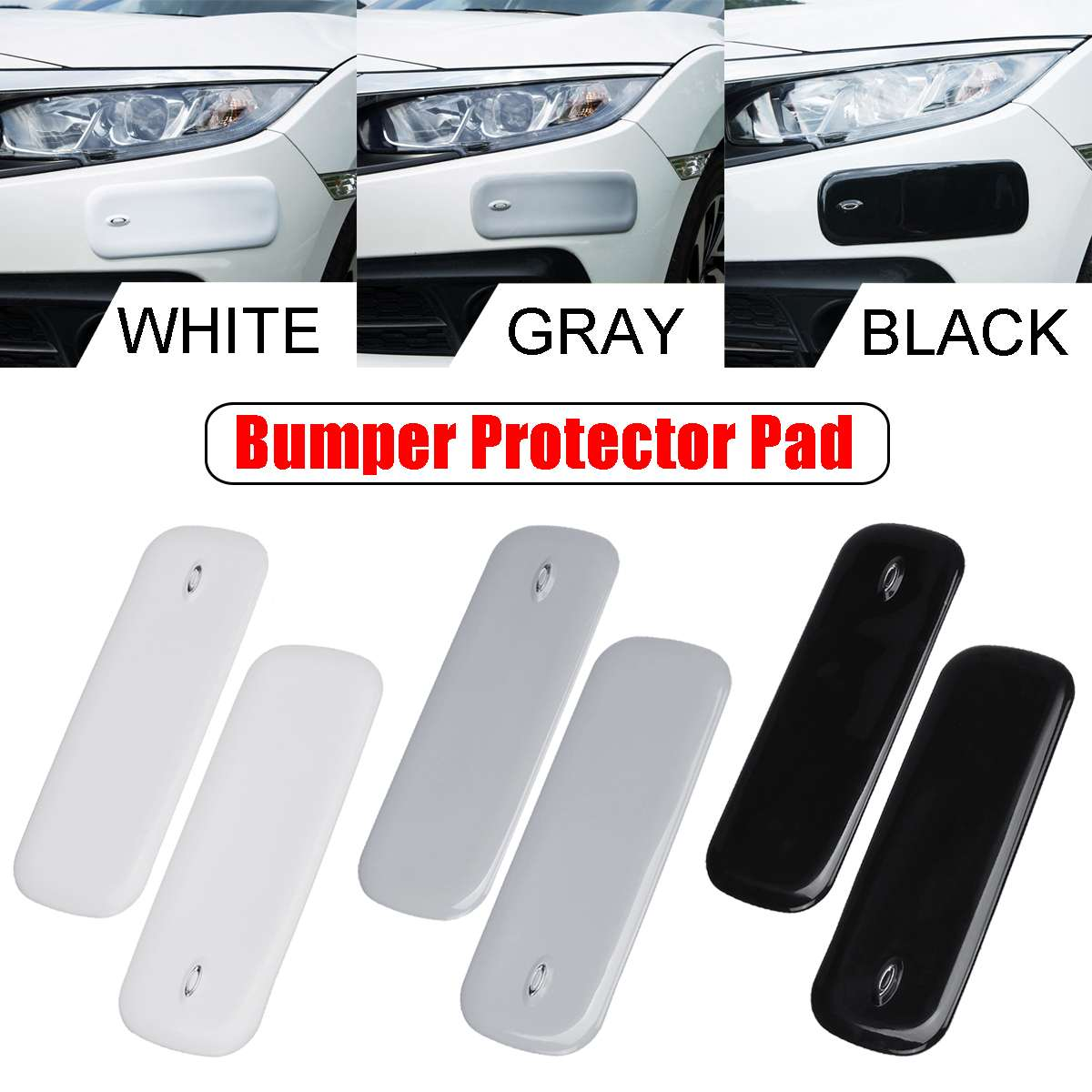Side Car Bumper Protection Anti-Collision Patch Trim Bumper Protecor for Car Truck SUV YnGia Car Bumper Corner Protecor Guard Rubber Strips 2 Pack