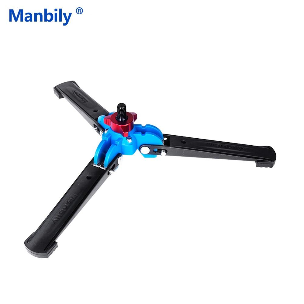 """Manbily M-1 Draagbare Universele Mini Drie Voeten Ondersteuning Statief Stand Base Monopod Stand Met 3/8 """"schroef Voor Monopod Bal Hoofd"""