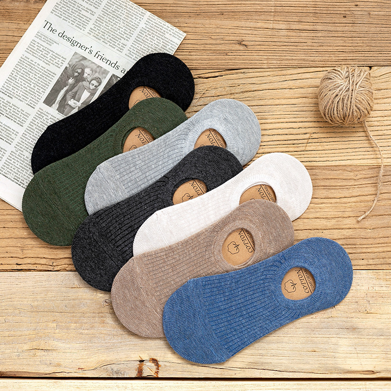Invisible Short Man Sweat Summer Comfortable Cotton Bamboo Girl Women's Boat Socks Ankle Low Female Invisible 1pair=2pcs Wsq01