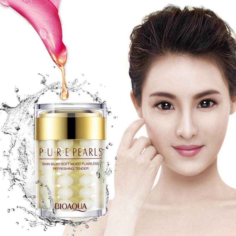 Pure Pearl Essence Face Cream Hyaluronic Acid Cream Moisturizing Tender Skin Care Anti Wrinkle Whitening Cream Mask &1