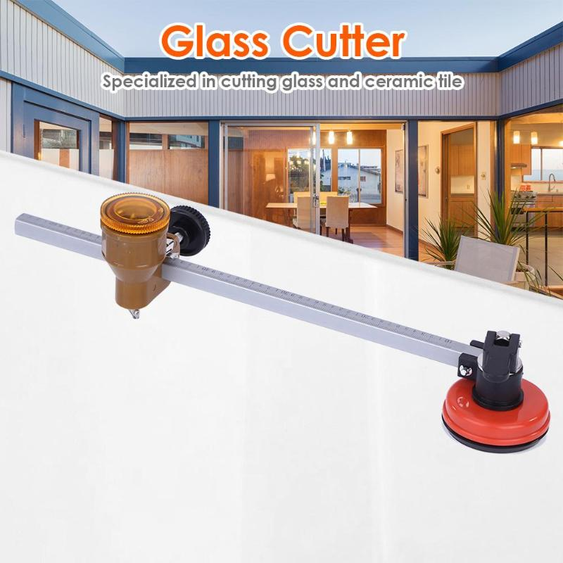 Glass Cutter Multi-function Roller Type Circular Glass Cutter Woodworking Cutting Tool For Cutting Glass/ Ceramic Tile