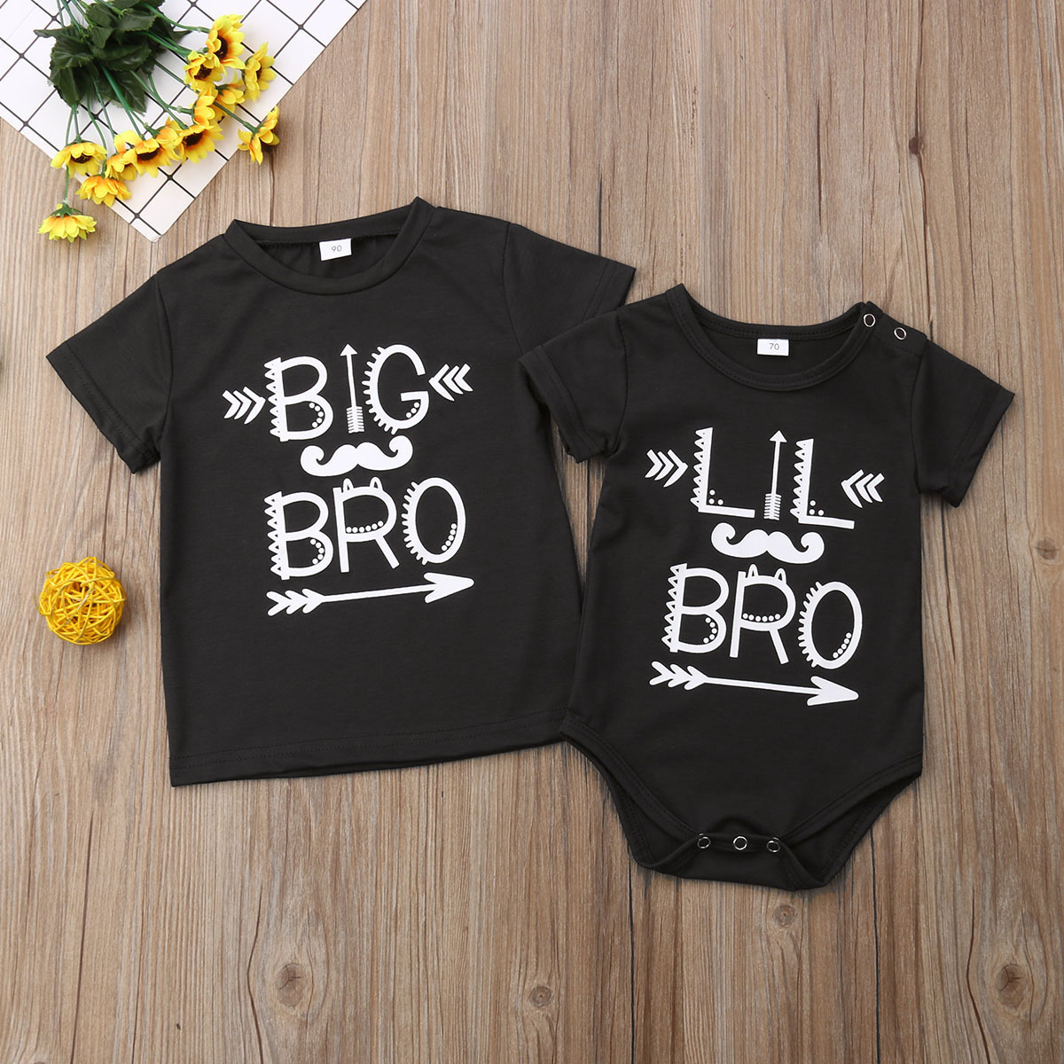 2020 Infant Baby Little Brother Romper 0-18M Big Brother T-shirt 2--5T Family Match Clothes Outfits T Shirt