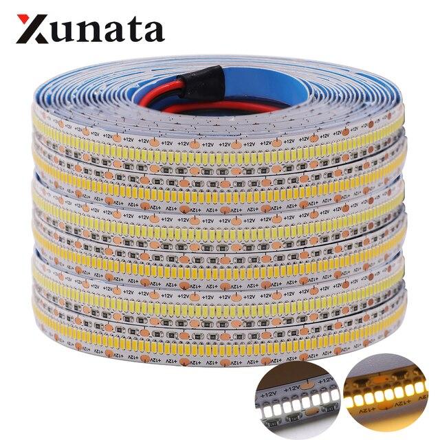 Hight qualidade 3014 tira conduzida dc12v fita flexível 560 leds/m conduziu a lâmpada de luz branco quente para decoração casa 5 m/lote