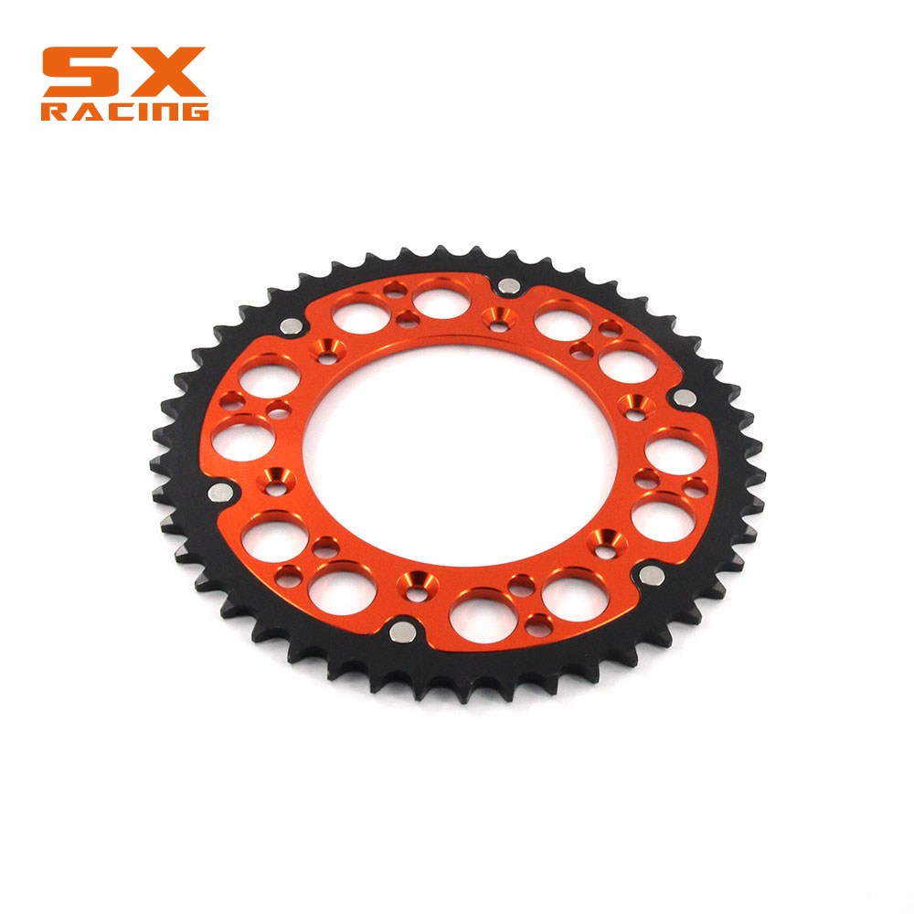 Motorcycle 44T 47T 48T 49T 51T 52T Steel Engine Part Rear Sprocket Chain For KTM EXC EXCF XC XCF XCW XCFW SX SXF SXS SMR SMC LC4 bikingboy front 13t rear 48t 49t 50t 51t 52t sprockets 520 chain for suzuki rmz 450 rmz450 2005 2016 rm z 450 05 16 full set