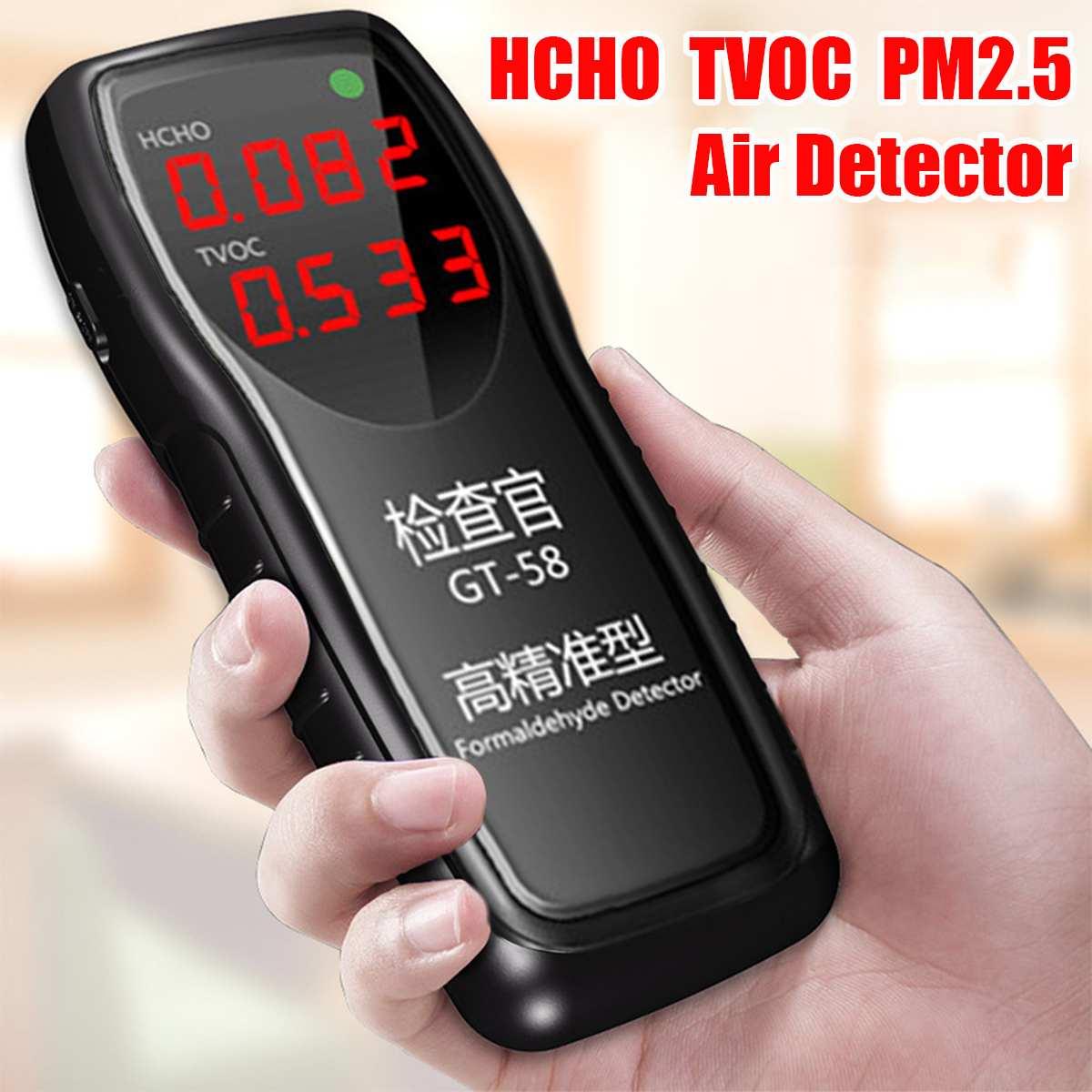 Gt58 Professionelle Digitale Formaldehyd Detektor Luft Qualität Monitor Tester Hcho Tvoc Pm2.5 Meter Hause Luft Test Analysatoren Delikatessen Von Allen Geliebt Werkzeuge