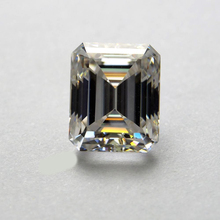 8*10mm Emerald Cut 3.17 carat White Moissanite Stone Loose Moissanite Diamond for Ring цена