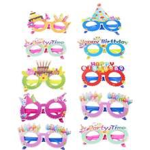 b393b5c764 10 pièces anniversaire Adorable coloré lunettes de soleil lunettes lunettes  fête décorations faveurs pour enfants filles