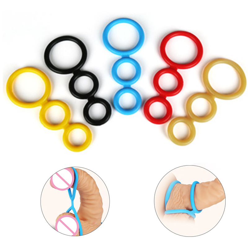 Adult Toys Male Silicone Cock Ring Delayed Ejaculation Penis Rings Penis Extender Erection Cockring Sex Toys For Men Masturbator