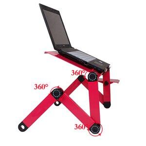 Image 4 - 1 Pcs Foldable Computer Desks Bed Tray Laptop Notebook Lap  Portable Vented Adjustable Stand PC Folding Desk Table