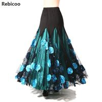 Luxurious Theatrical Bellydance Costume Ballroom Dancing Big Skirt Elegant Belly Dance Waltz Indian