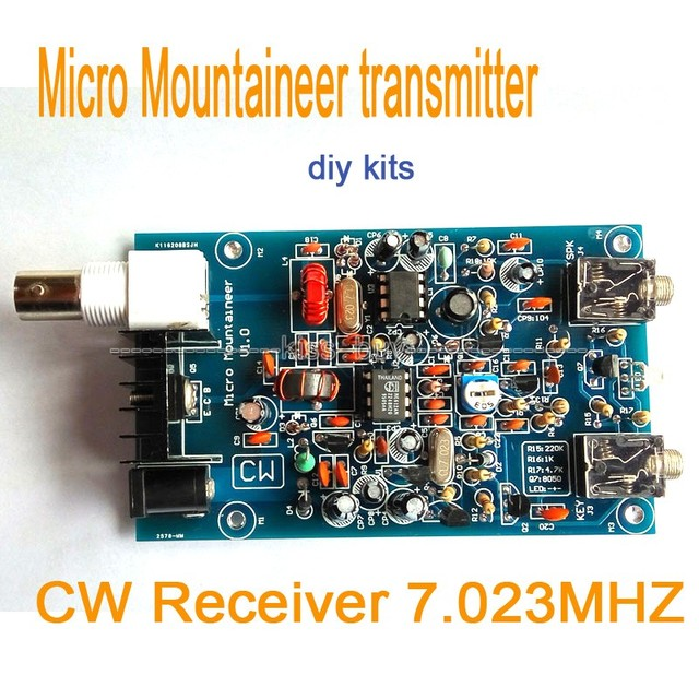 US $14 56 6% OFF|Micro Mountaineer transmitter receiver CW QRP Ham Amateur  Shortwave Radio 7 023MHZ diy kits-in Integrated Circuits from Electronic