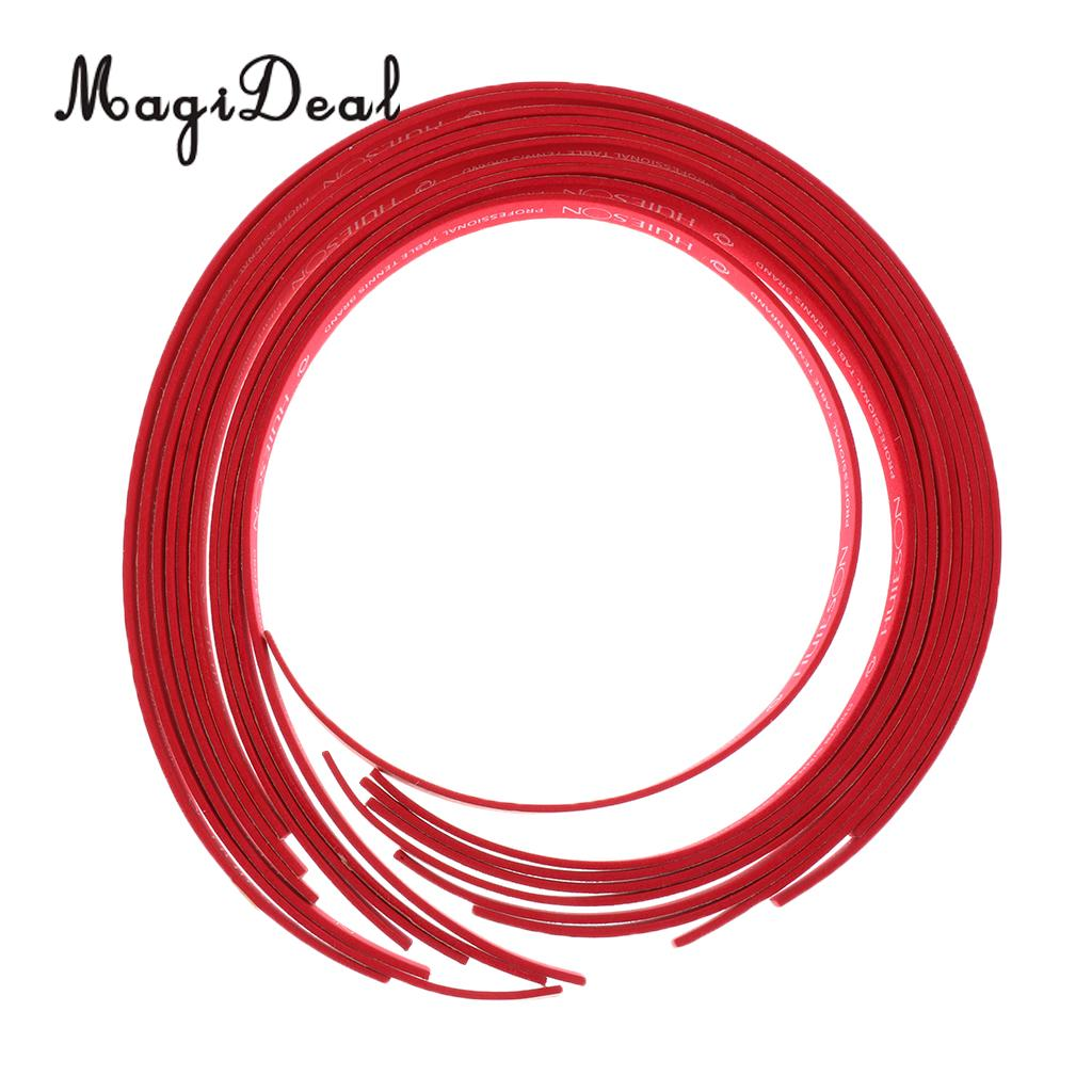 MagiDeal Durable Table Tennis Edge Tape Racket Side Tape Sponge Protect Red Board Game Indoor Games For Adults