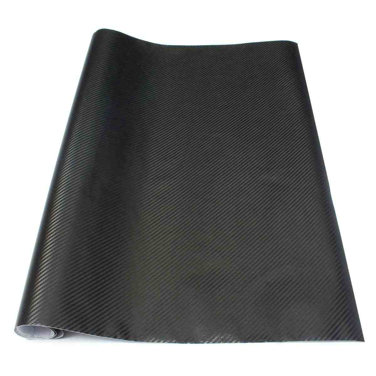 250 x 65cm Universal Black 3D Carbon Fiber Vinyl Car Motorcycle Wrap Sheet Roll Film Sticker Foil Decal Car Styling Accessories
