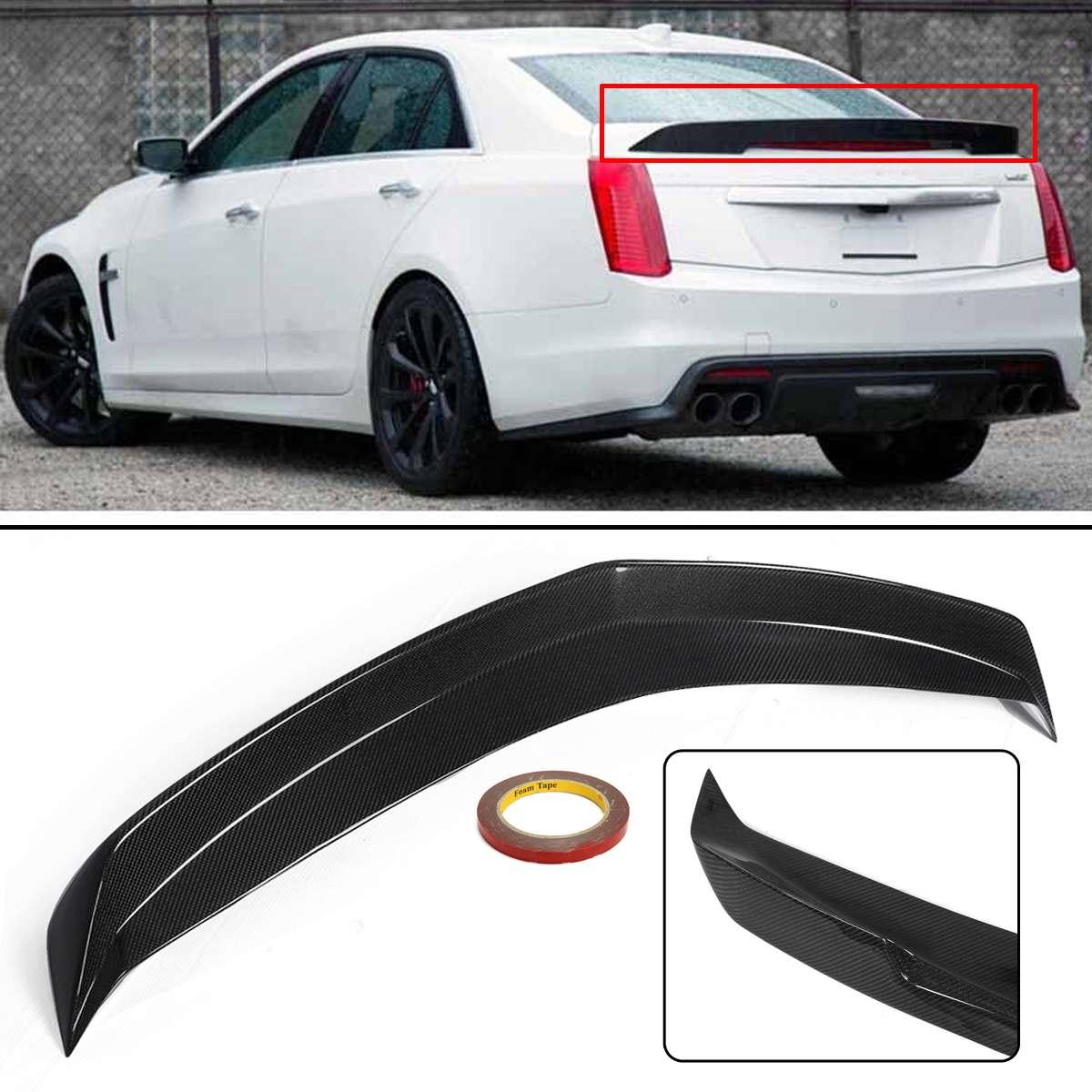 Pacote de Fibra De carbono Tronco Lid Spoiler Traseiro Asa Lip Asa Spoiler Tampa para Cadillac CTS-V 16-Up