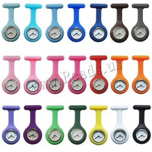 New Nurses Watches Doctor portable Fob Watch Brooches Silicone Tunic Batteries Quartz with Clip Medical Nurse Watch