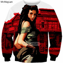 New Hot Game Red Dead Redemption 2 3D Print Sexy Girl Sweatshirts Men/Women Hip Hop Streetwear Hoodies Girls Outwear Clothes