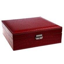 Mulher senhora meninas atriz portátil viagem jóias organizador brinco/anel/colar/relógio etc caixa de recipiente de armazenamento cosmético
