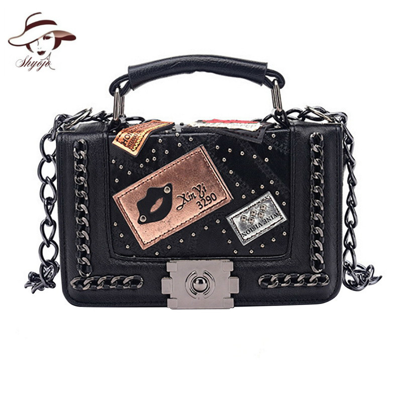 Luxury Women Top-handle totes Women Handbags 2018 Brand Designer Chains Crossbody Bag For Women Rivet Sac Lady Small Day ClutchLuxury Women Top-handle totes Women Handbags 2018 Brand Designer Chains Crossbody Bag For Women Rivet Sac Lady Small Day Clutch