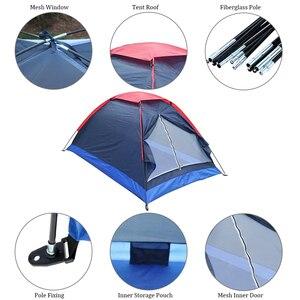 Image 2 - Lixada namiot kempingowy podróż dla 2 osób namiot na zimowe namioty wędkarskie odkryty Camping piesze wycieczki z torba do przenoszenia 200x140x110cm