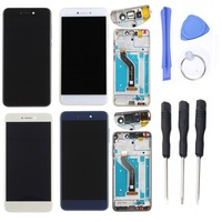 For Huawei Honor 8 Lite LCD Display Touch Screen Digitizer with Frame Tools For Huawei Honor 8 Lite Replacment Parts Accessories