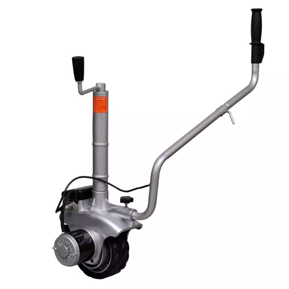 Vidaxl Aluminium Motorised Jockey Wheel Trailer Mover Automatic Brake Boat Trailer Horse Trailer With Height-Adjustable Clamp