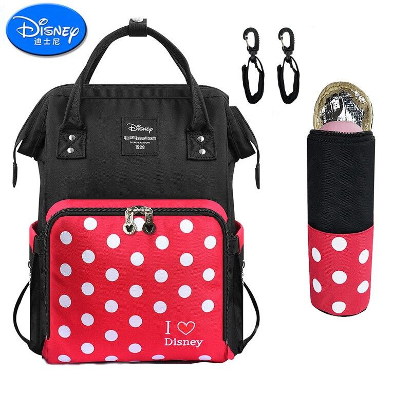 Disney 2 pièces/ensemble Minnie Dot sac à langer sac à dos grande capacité bébé sac Nappy sac pour bébé soin voyage sac à dos soins infirmiers sac à main