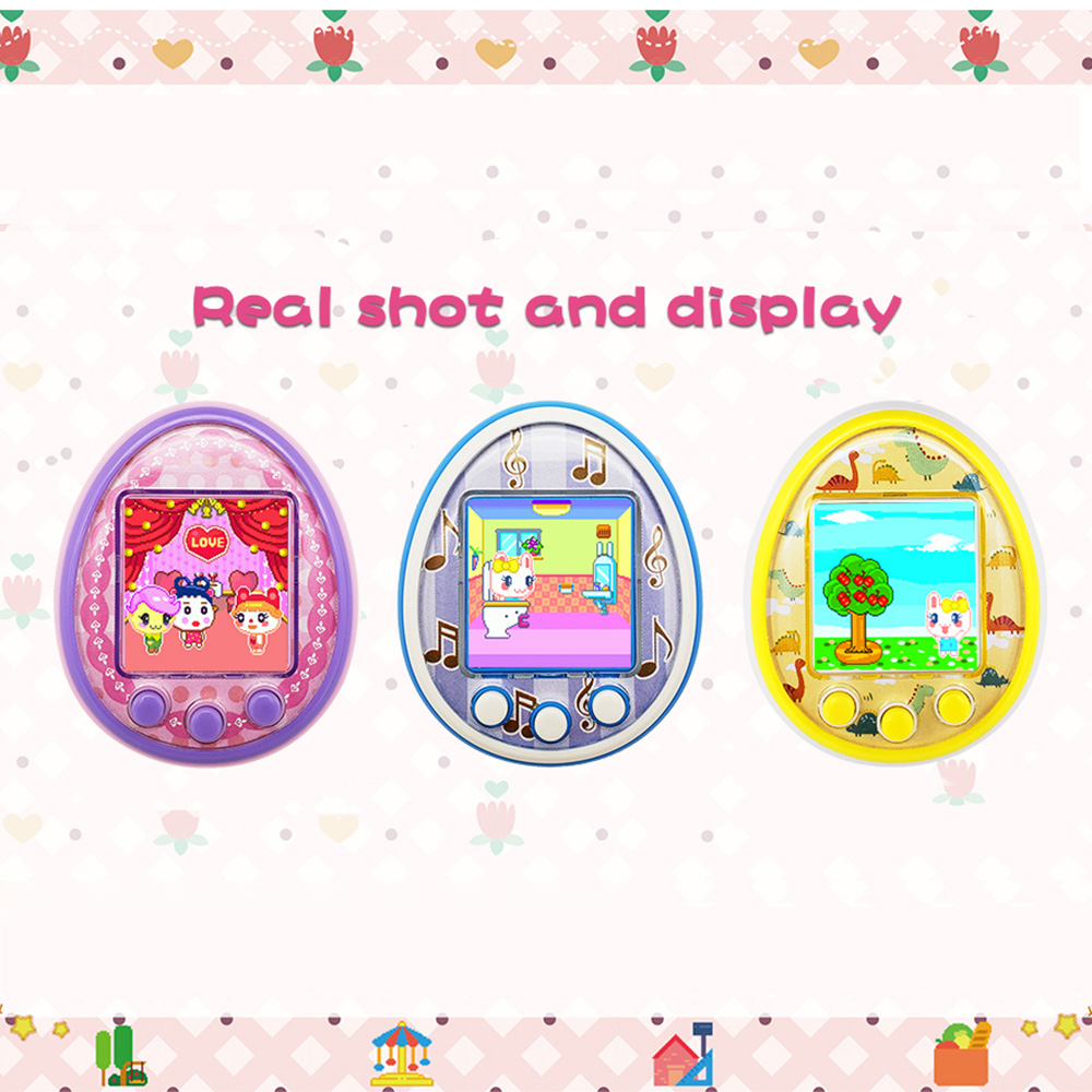 Cartoon Electronic Pets Charging Digital Pet Interactive Toy 90S Nostalgic Handheld Virtual Pet Kids Toy Gift-in Electronic Pets from Toys & Hobbies    1