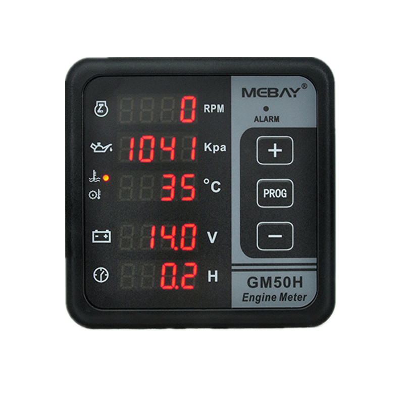 GM50H Engine Digital Multi functional Meter Diesel Engine Monitor with Oil Pressure Gauge Rotating Speed Oil