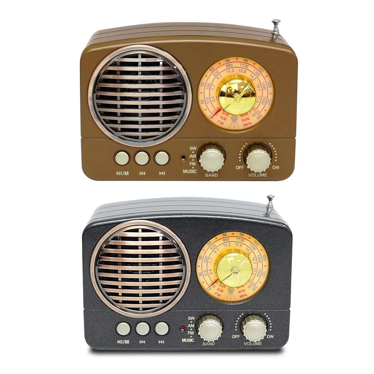 130x90x70mm Tragbare Vintage Retro Radio Am Fm Sw Bluetooth Lautsprecher Tf Karte Slot Usb Lade Home Reise Mini Radio Hindernis Entfernen